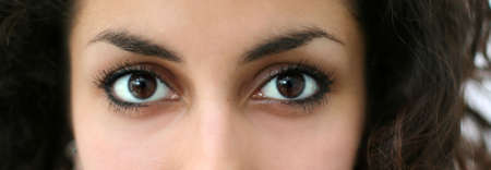 Eyes of a beautiful middle eastern girl