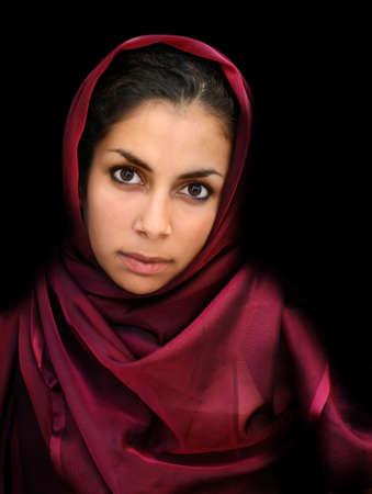 Een portret van een jonge Arabische vrouw Stockfoto