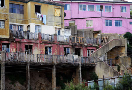 Urban decay in poor district in Valparaiso, Chile
