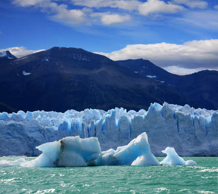 A new Iceberg at Perito Moreno Glacier, Argentina lake Stock Photo
