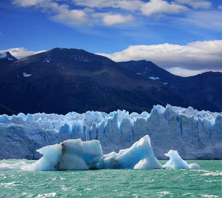 A new Iceberg at Perito Moreno Glacier, Argentina lake Stock Photo