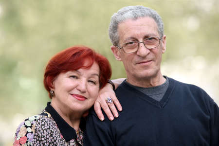 Portrait of a happy couple in their seventies