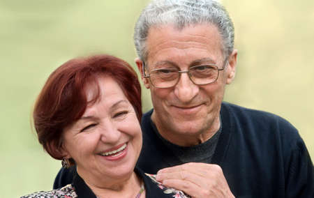 Portrait of a happy couple in their seventies Stock Photo - 4863144