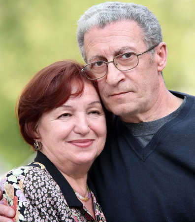 Portrait of a happy couple in their seventies Stock Photo - 4863153