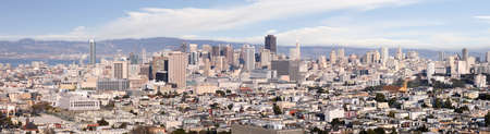 A panoramic shot of the city of San Francisco Stockfoto