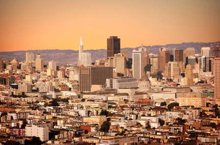 Stylized shot of a city of San Francisco Stockfoto