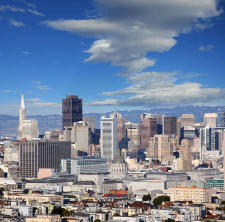 Square shot of a city of San Francisco Stock Photo - 4895306