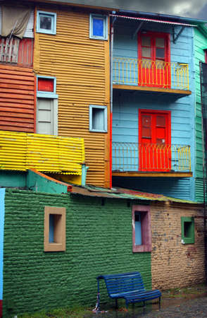 la boca: Colorful district La Boca in Buenos Aires