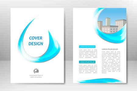 Diseño de plantilla de vector azul para folleto comercial, volante, cartel, folleto, presentación, informe anual, portada de revista, formación educativa en equipo. A4
