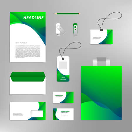 Corporate identity design template branding