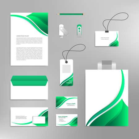 Corporate identity design template branding