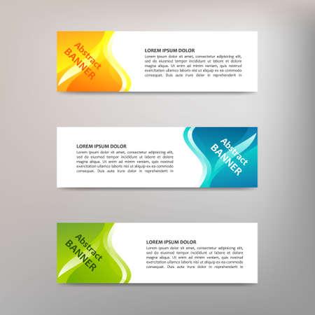 Vector abstract design banner template Vector Illustratie