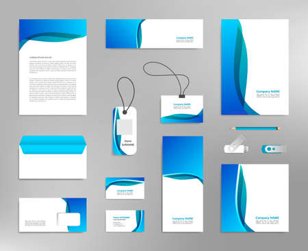 Corporate identity design template, business stationery mockup for company branding