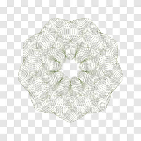 Guilloche Pattern Rosette for certificate, diploma, voucher, currency, play money or other security papers.