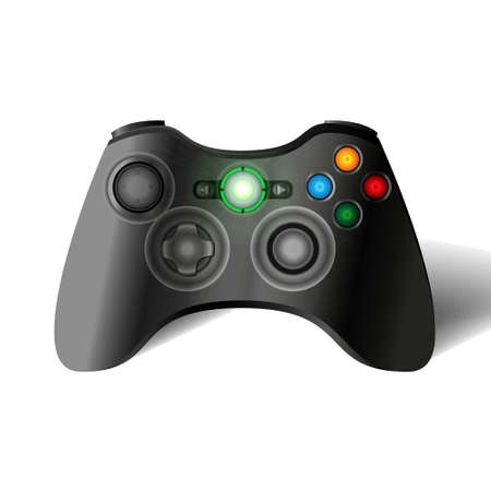 console: Game  360 controller. Joystick game console. Vector gamepad