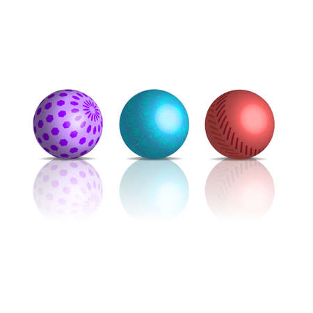 3d gradient balls with different patterns Vector