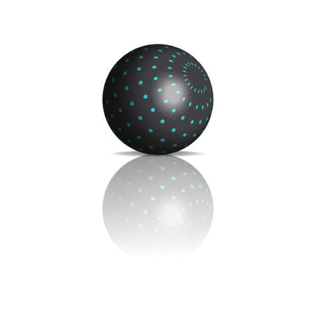 3d gradient circles ball Vector