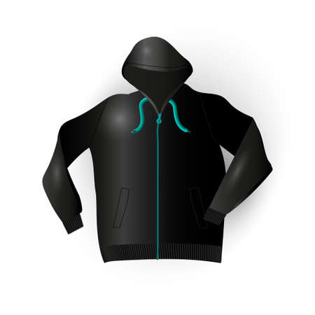 secluded: Sport raincoat in vector