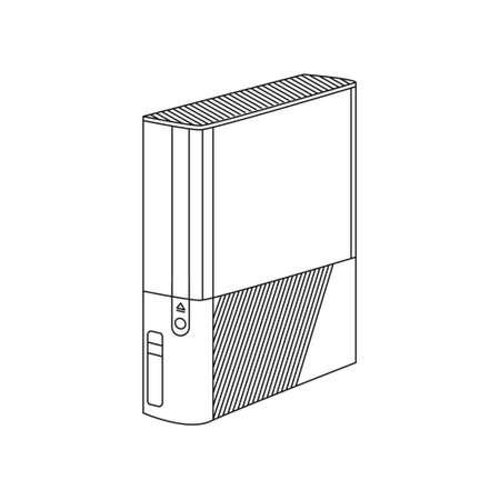 joy pad: Vector game console, computer case