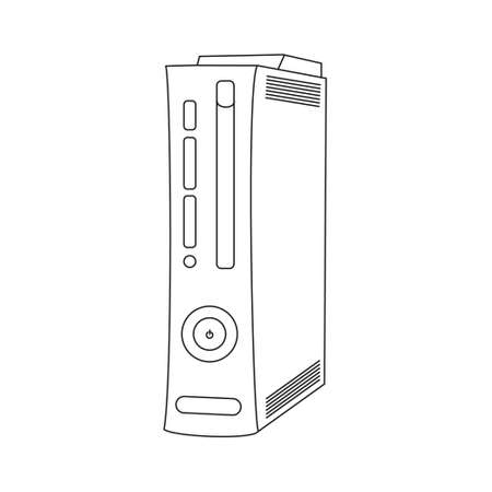 game console: Vector game console, computer case