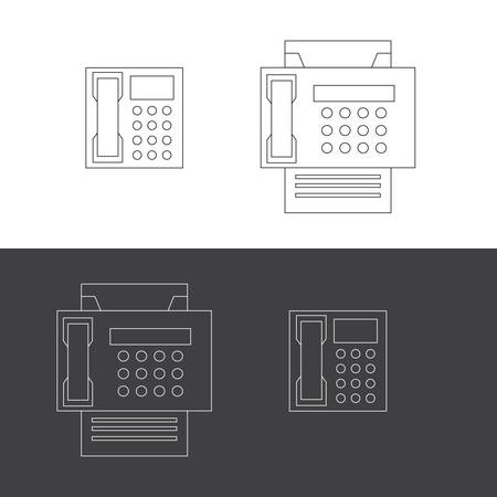 telephone icons: Telephone and fax icons Illustration