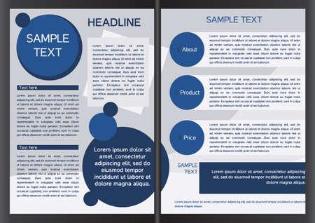 Brochure design template in vector, eps Ilustracja