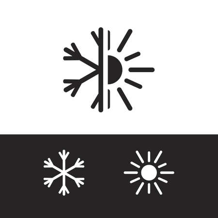 Vector air conditioning icon Illustration