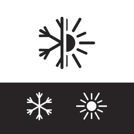 Vector icono de aire acondicionado Foto de archivo - 39554654