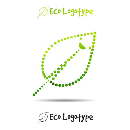 logo ecologie: Vector ecology logo or icon, nature logotype with smile