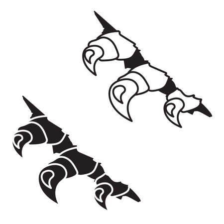 Vector monsters or dragon claws in crack Vector