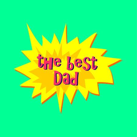 Happy Fathers Day sticker Ilustração