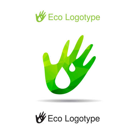 handbreadth: ecology logotype Illustration