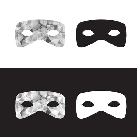 decoration decorative disguise: Vector magictriangle  mask, black and white low poly mask