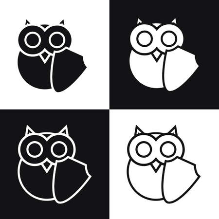 safeness: Vector owl logo with shell, symbol of education security