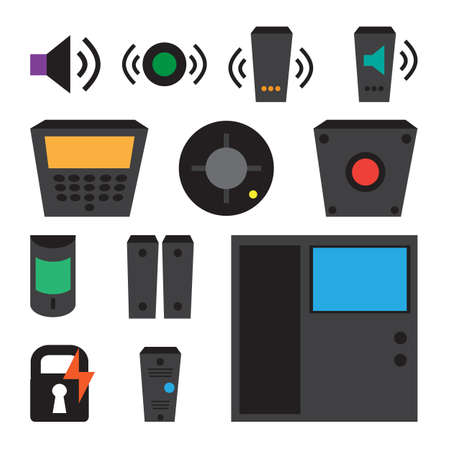 simple set of detectors icons