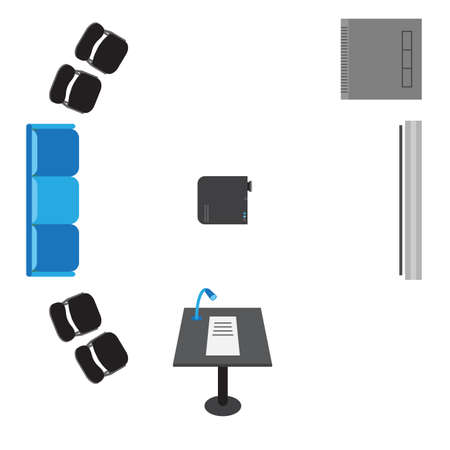 a chair: set of icons for presentation