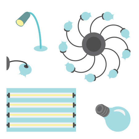 electrolier: set of different lamps