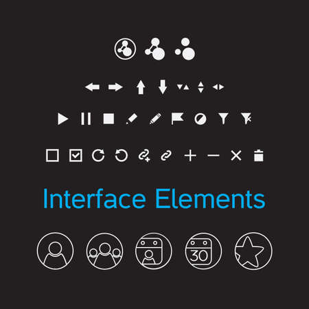 interface elements: set of interface elements Illustration