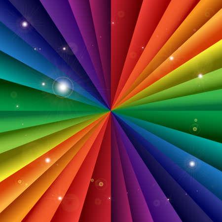 Bright vector rainbow celebration holiday banner, vector background Illustration