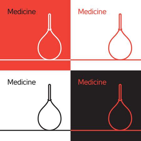 einlauf: Medizin Hilfe, Einlauf und Gesundheitssymbol. Vector