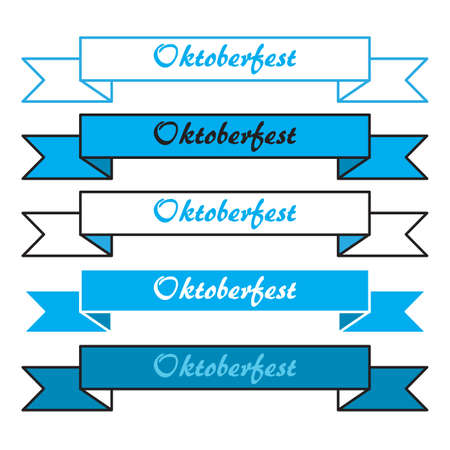 bavarian: Oktoberfest simple banners in bavarian colors. Vector