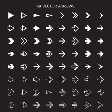 previous: Isolated arrows set, undo and previous buttons. Vector