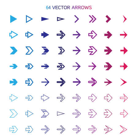 undo: Isolated arrows set, undo and previous buttons. Vector