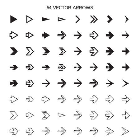 Isolated arrows set, undo and previous buttons. Vector