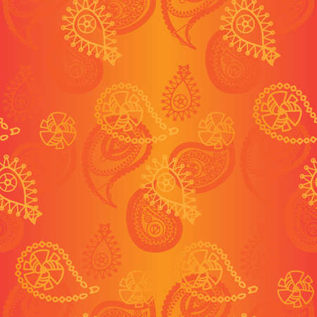 Seamless indian pattern and asian ornament. Vector  イラスト・ベクター素材