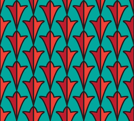 Seamless indian pattern and asian ornament. Vector Ilustração