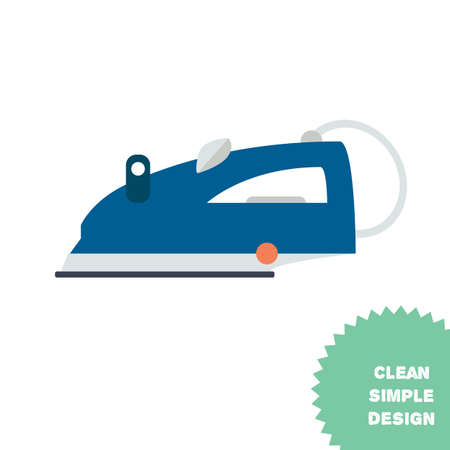 emitting: Isolated steam iron icon. Modern vector illustration Illustration