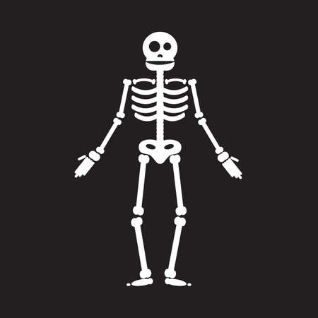 crossbone: Happy Halloween skeleton illustration, zombie from bones and skull. Vector Illustration