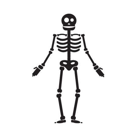 Happy Halloween skeleton illustration, zombie from bones and skull. Vector Illustration