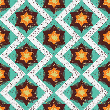 halloween spider: Grunge colorful halloween geometric seamless pattern with spider. Vector Illustration